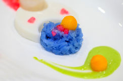 Tajlandzki Deserowy Słodki zielarski Kleisty Rice Sztuka Tajlandzcy desery '' Zdjęcie Royalty Free