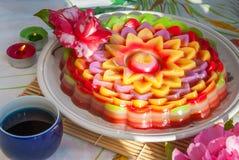 Tajlandzki deserowy warstwa cukierki tort Chan lub Kanom zdjęcia stock