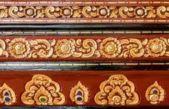 Tajlandzki drewno rzeźbiący wzór Obrazy Royalty Free