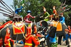 tajlandzki dziejowy mannequin Zdjęcia Royalty Free