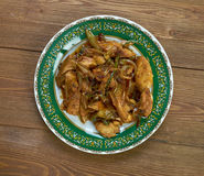 Tajlandzki fertanie dłoniaka kurczak Fotografia Royalty Free