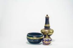 Tajlandzki garncarstwo i tradycyjni pięć barwiliśmy tajlandzką porcelanę Obrazy Royalty Free