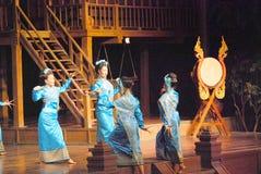 Tajlandzki gwoździa taniec Zdjęcia Royalty Free