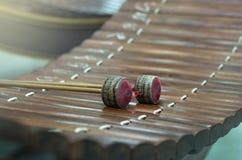 Tajlandzki instrument muzyczny, azjatykci instrument (Altowy ksylofon) Fotografia Stock