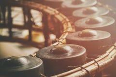 Tajlandzki instrument muzyczny, gongu instrument dla rytmu Zdjęcie Royalty Free