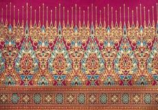 tajlandzki jedwabiu deseniowy styl Zdjęcie Stock