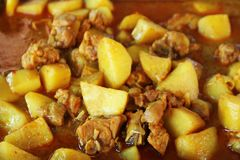 Tajlandzki jedzenie & x27; Massaman curry Z Chicken& x27; Obrazy Royalty Free