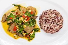 tajlandzki jedzenie na bielu talerzu Obraz Stock