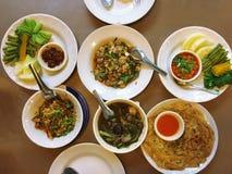 Tajlandzki jedzenie, Północny tajlandzki jedzenie, Tradycyjny północny tajlandzki jedzenie, mieszający Zdjęcia Stock