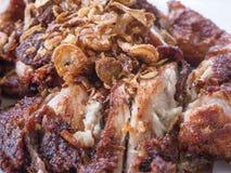 Tajlandzki jedzenie, piec na grillu kurczak Zdjęcia Stock