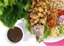 Tajlandzki jedzenie smażąca ryba Fotografia Stock