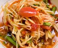 Tajlandzki jedzenie, Somtum lub melonowiec sałatka, Fotografia Stock