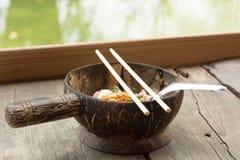 Tajlandzki jedzenie w kokosowej skorupie Obraz Royalty Free