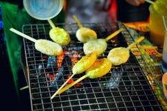 Tajlandzki jedzenie, woskowaty ryż, ludowa mądrość obraz royalty free