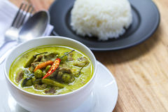 Tajlandzki jedzenie: Zielony curry Zdjęcie Royalty Free