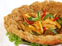 Tajlandzki karmowy kurczaka dłoniak Obraz Royalty Free
