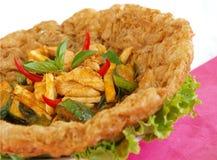 Tajlandzki karmowy kurczaka dłoniak Zdjęcie Royalty Free
