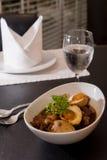 Tajlandzki karmowy Palo, słodka wieprzowina i solony jajeczny gulasz z smażącym tofu, Obrazy Royalty Free