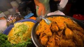 Tajlandzki karmowy pieczony kurczak z ryżową sprzedażą wewnątrz zbiory