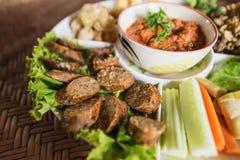Tajlandzki karmowy tradycyjny, karmowy pojęcie, Fotografia Royalty Free