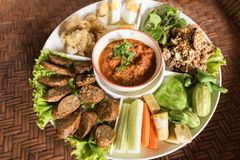 Tajlandzki karmowy tradycyjny, karmowy pojęcie, Obrazy Royalty Free