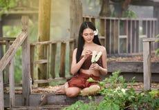 Tajlandzki kobiety sukni styl Tajlandzki Obraz Stock