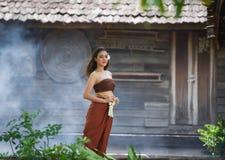 Tajlandzki kobiety sukni styl Tajlandzki Obrazy Royalty Free