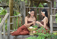 Tajlandzki kobiety sukni styl Tajlandzki Zdjęcie Stock