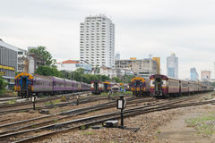Tajlandzki kolej pociąg Zdjęcie Stock