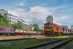 Tajlandzki kolej pociąg Fotografia Royalty Free