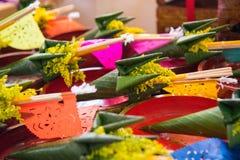 Tajlandzki kwiatu rożek cześć zdjęcie stock