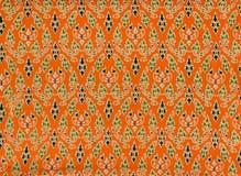 Tajlandzki kwiecisty tkaniny tło Fotografia Royalty Free