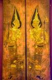 Tajlandzki malowidło ścienne obraz w sanktuarium, Wata Pho świątynia, Bangkok, Tajlandia Obraz Stock