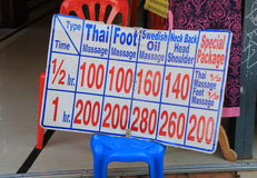 Tajlandzki masażu toursm Fotografia Royalty Free