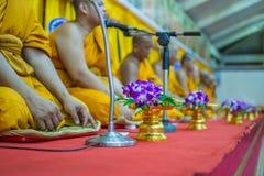 Tajlandzki michaelita ono modli się dla obrządu religijna w buddyjskim Obraz Royalty Free
