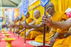 Tajlandzki michaelita ono modli się dla obrządu religijna w buddyjskim Zdjęcia Stock