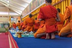Tajlandzki michaelita ono modli się dla obrządu religijna w buddyjskim Obraz Stock