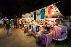 Tajlandzki noc rynek Zdjęcie Royalty Free