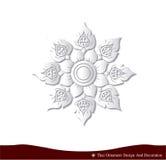 Tajlandzki ornamentu projekta karty papier 3D naturalny Zdjęcie Stock