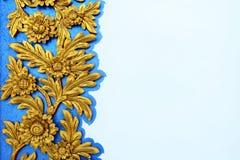 Tajlandzki ornamentu wzór na cement ścianie Zdjęcie Royalty Free