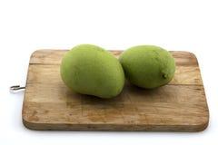 Tajlandzki owocowy mango na ciapanie melonowa Drewnianej Konfekcyjnej karmowej sałatce Zdjęcia Stock