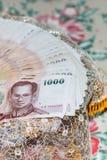 Tajlandzki pieniądze dla małżeństwa Zdjęcia Stock