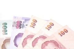 Tajlandzki pieniądze na białym tle obraz royalty free