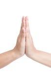 Tajlandzki powitanie ręki znak Fotografia Royalty Free