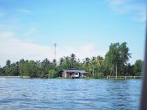Tajlandzki przód wody dom Obraz Royalty Free