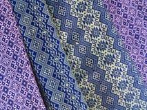 Tajlandzki ręcznie robiony tkanina wzór fotografia royalty free