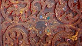 Tajlandzki rzeźbiony drewno Obrazy Stock