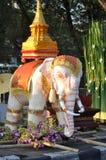 tajlandzki słonia biel Obraz Royalty Free
