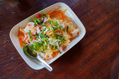 Tajlandzki sałatkowy jedzenie Zdjęcie Royalty Free
