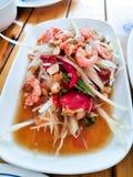 Tajlandzki Somtum jedzenie Zdjęcie Stock